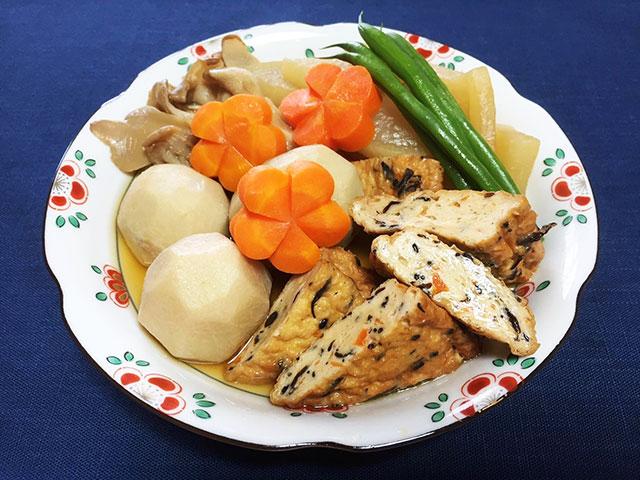 三角がんもと根菜の炊き合わせ
